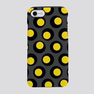 Yellow Black And Grey Wobbly Dots iPhone 7 Tough C