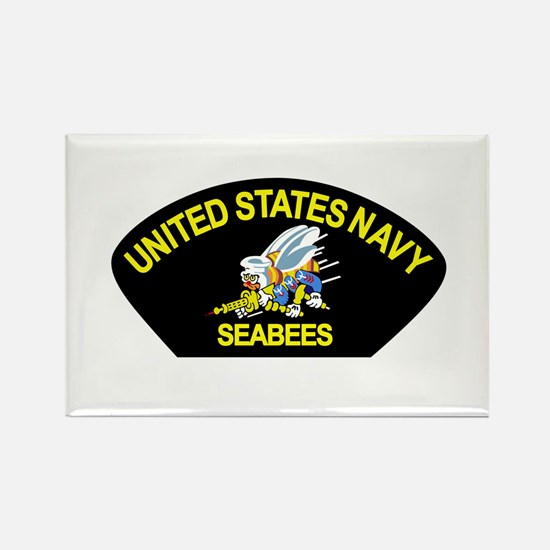Cute Navy seabee Rectangle Magnet