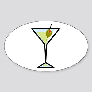 Dirty Martini Oval Sticker