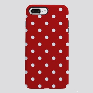 dots-white-red_ff iPhone 7 Plus Tough Case
