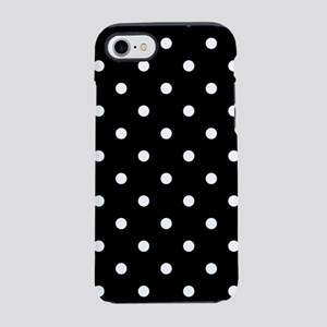 dots-whiteblack_ff iPhone 7 Tough Case