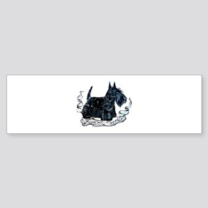 Scottish Terrier Style Bumper Sticker