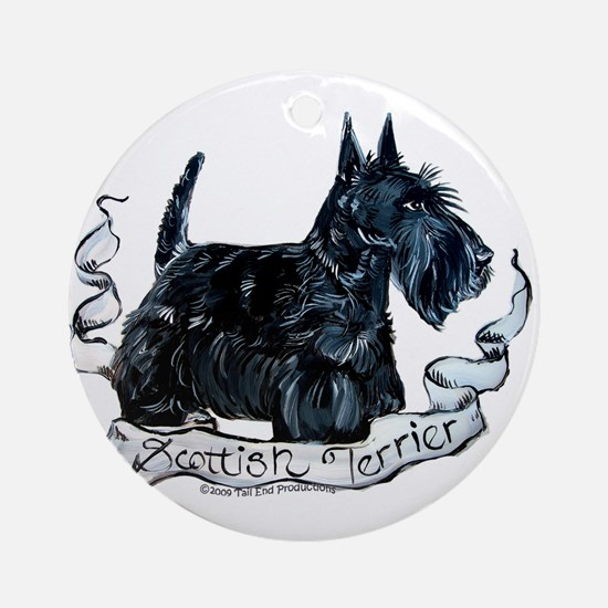 Scottish Terrier Style Ornament (Round)