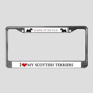 Scottish Terrier Style License Plate Frame