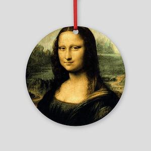 Mona Lisa Ornament (Round)