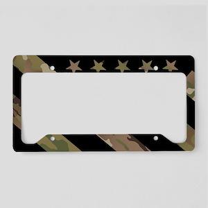 U.S. Flag: Military Camouflag License Plate Holder
