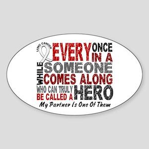 HERO Comes Along 1 Partner LUNG CANCER Sticker (Ov