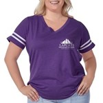 Women's Plus Size Football T-Shirt - Front Log