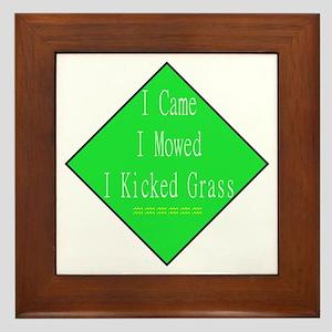I Kicked Grass Framed Tile