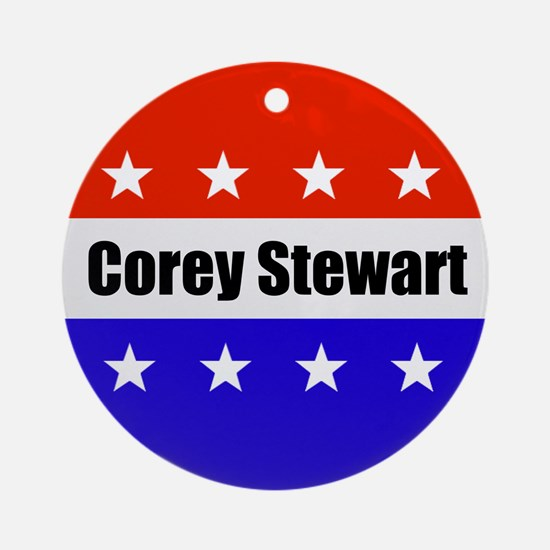 Corey Stewart Round Ornament