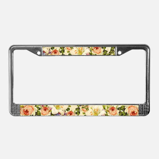 Cute Patterns License Plate Frame