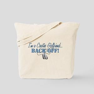 Coasties Girlfriend...BACK OF Tote Bag