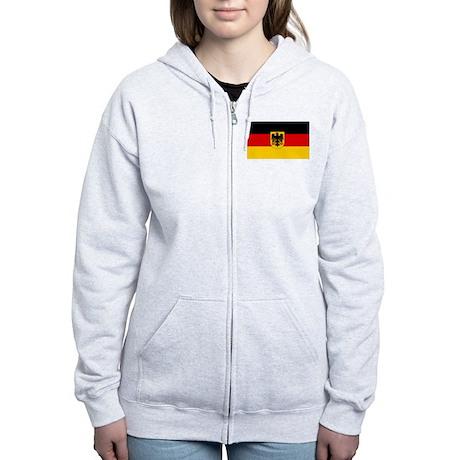 Flag of the German Government Women's Zip Hoodie
