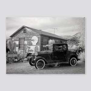 Days Gone By Antique Car And Gas St 5'x7'Area Rug