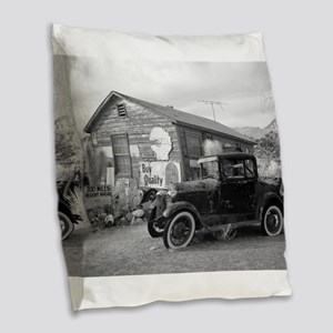 Days Gone By Antique Car And G Burlap Throw Pillow