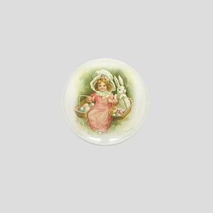 """Cute Easter Bunny"" Mini Button"