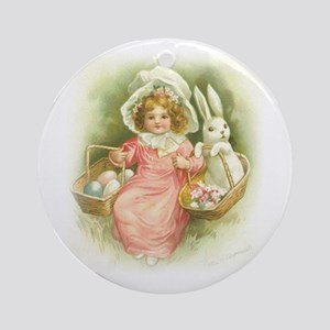 """""""Cute Easter Bunny"""" Ornament (Round)"""