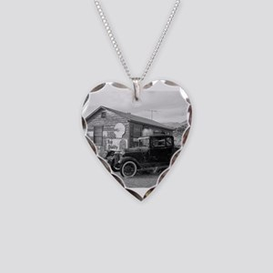 Days Gone By Antique Car And Necklace Heart Charm