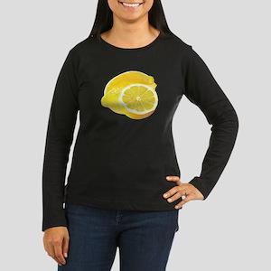 Just Lemons Women's Long Sleeve Dark T-Shirt