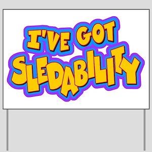 Sledability Yard Sign