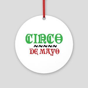 Colorful Cinco De Mayo Ornament (Round)