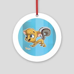 Baby Squirrel Ornament (Round)