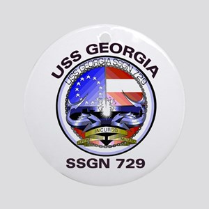USS Georgia SSGN 729 Ornament (Round)