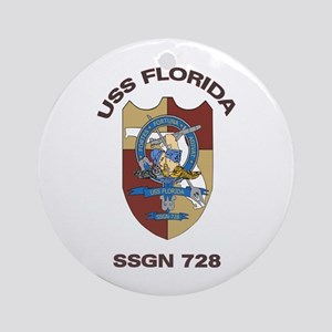USS Florida SSGN 728 Ornament (Round)