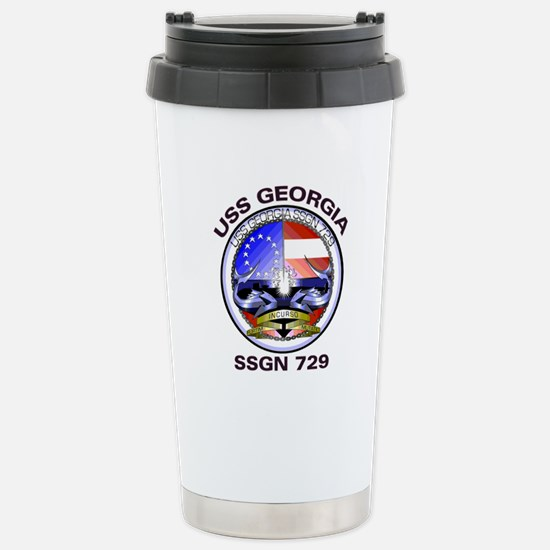 USS Georgia SSGN 729 Stainless Steel Travel Mug