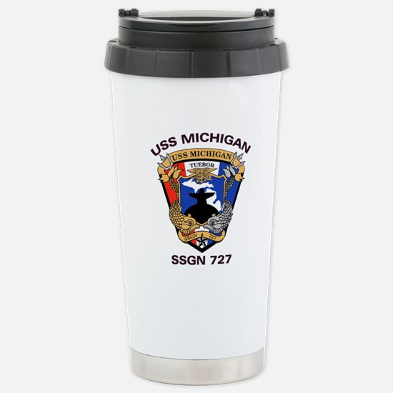 USS Michigan SSGN 727 Stainless Steel Travel Mug