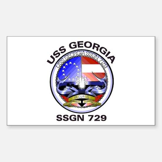 USS Georgia SSGN 729 Rectangle Decal