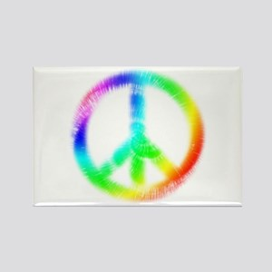 Tie Dye Peace Sign Rectangle Magnet