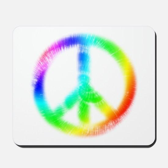 Tie Dye Peace Sign Mousepad