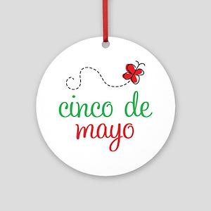 Cinco De Mayo Logo Ornament (Round)