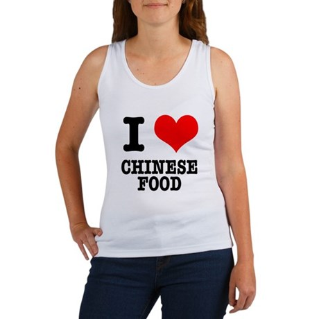 I Heart (Love) Chinese Food Women's Tank Top