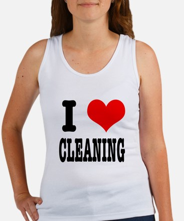I Heart (Love) Cleaning Women's Tank Top