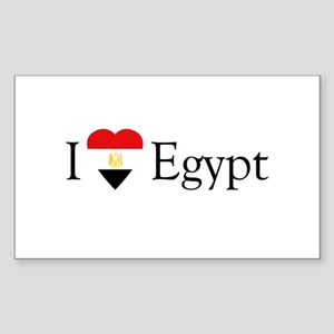 I Love Egypt Rectangle Sticker