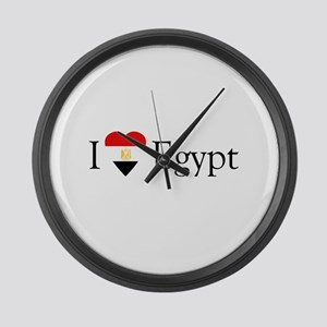 I Love Egypt Large Wall Clock