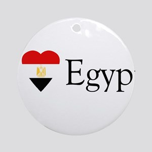 I Love Egypt Ornament (Round)