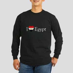 I Love Egypt Long Sleeve Dark T-Shirt
