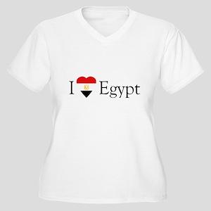 I Love Egypt Women's Plus Size V-Neck T-Shirt