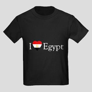 I Love Egypt Kids Dark T-Shirt