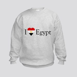 I Love Egypt Kids Sweatshirt