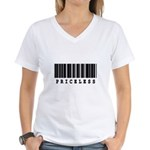 Priceless Barcode Design Women's V-Neck T-Shirt