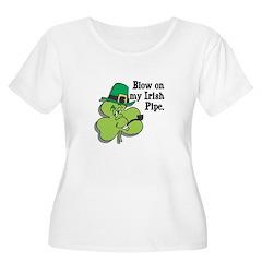 Blow On My Irish Pipe Shamroc T-Shirt