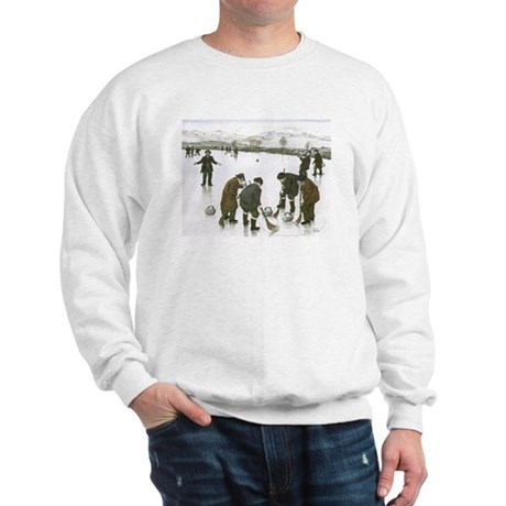 Sweatshirt with curling print