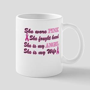 She is an Angel Wife Pink Mug