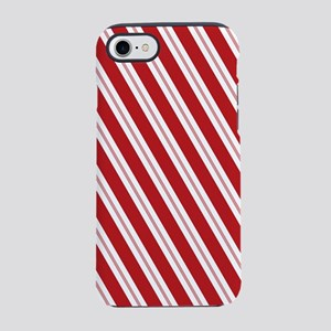 Red Candy Stripe Pattern iPhone 7 Tough Case