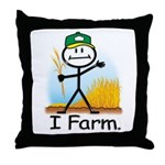 Wheat Farmer Throw Pillow