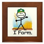 Wheat Farmer Framed Tile
